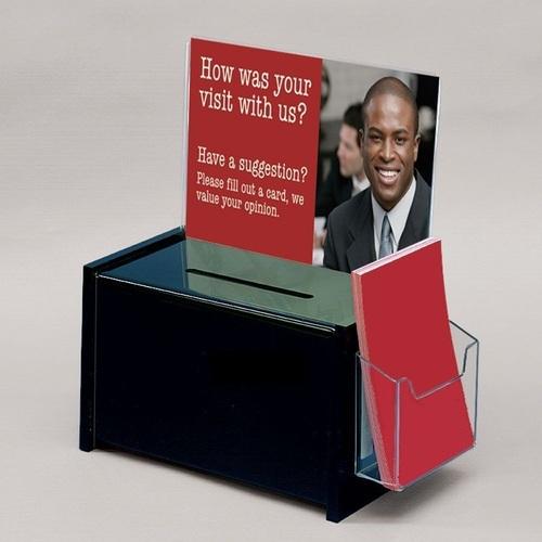 Acrylic Black Suggestion Box
