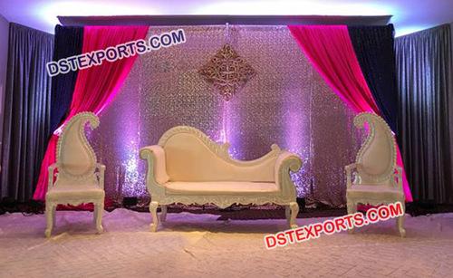 Beautiful Reception Stage Sofa Set