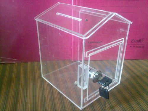 Acrylic Hut Shape Donation Box