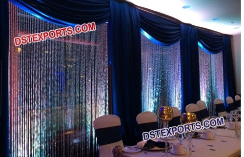 Glittering Backdrop Decoration For Wedding