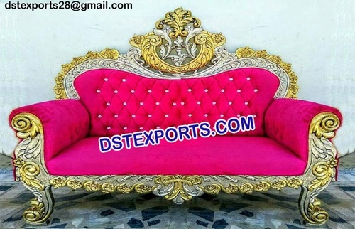 Traditional Gold Plated Sofa for Marriage