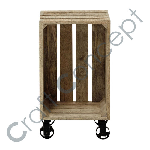 Casters Wooden Box