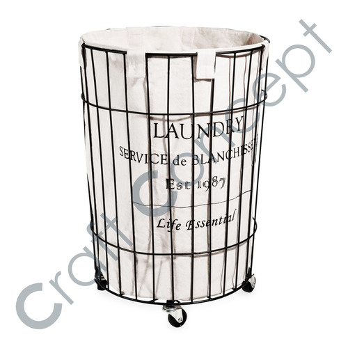 Laundry Canvas Print Iron Bin