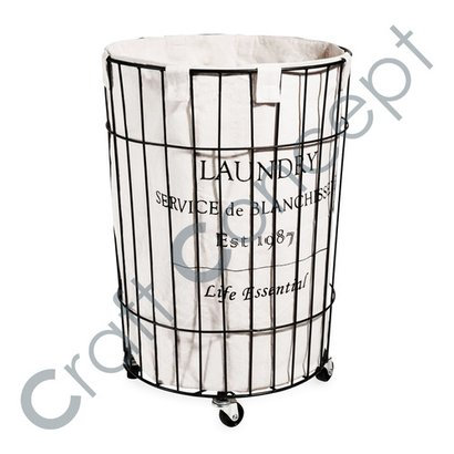 Laundry Canvas Print Iron Bin No Assembly Required