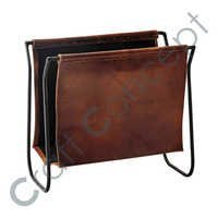 Leather With Iron Book Holder