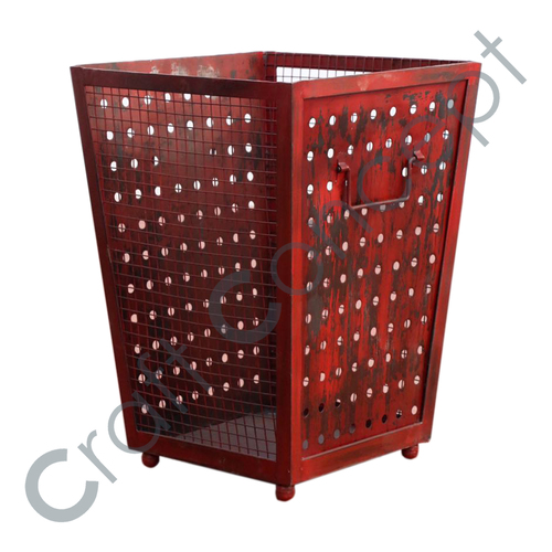 Red Color Iron Bucket