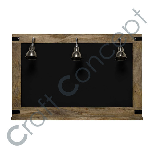 Wooden Wall Board With 3 Lamps