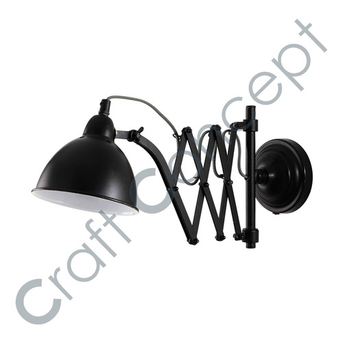 Zig-Zag Adjustable Black Lamp