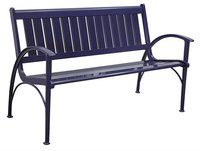 Trending rustic industrial metal patio bench from India
