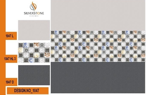Ceramic Grey Tiles 10x15