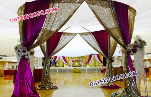 Stylish Curtains Decoration For Wedding