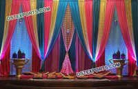 Colorful Design Curtains For Wedding