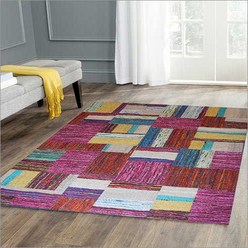 Multi Silk Patch Rug