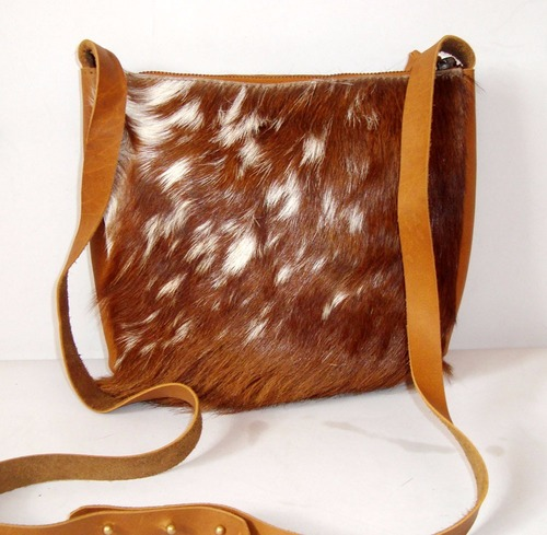 Goat Hair Leather Sling Bag
