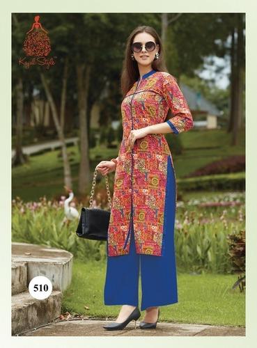 Kajal Style Town Beauty Cotton Printed Kurtis