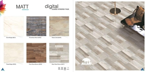 Grey Wood Vitrified Tiles 60x60cm