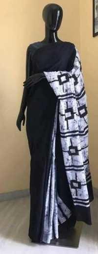 Indigo Battik Print Saree