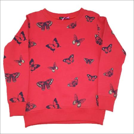 Girls Round Neck Sweatshirt