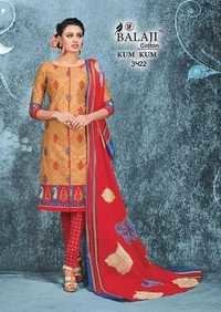 Cotton Printed Chudidar Dress Material