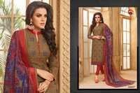 Cotton Jacqurd Chudidar Salwar Suit