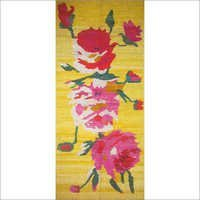 Natural Floral Banana Silk Runner
