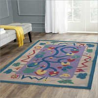 Vintage Cartoon Wool  Rug, Children Rug, Indoor Wool Rugs,