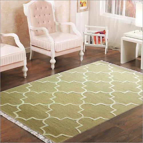 Cotton Handmade Bedroom Rug, Handmade Matki Rug, Flat Weave Rug