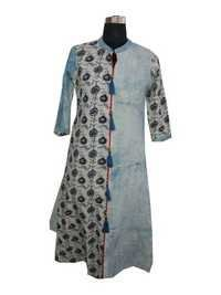Ladies Designer Print Jacket with Black Inner