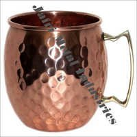 Hammered Copper Barrel Mugs