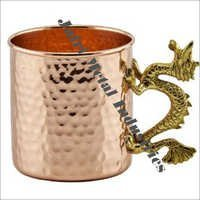 Double Hammered Copper Mugs