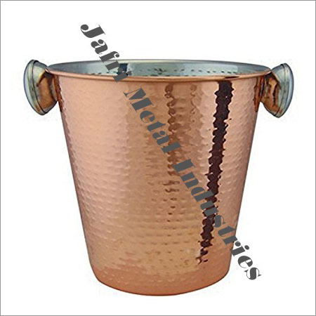 Hammered Copper Ice Buckets
