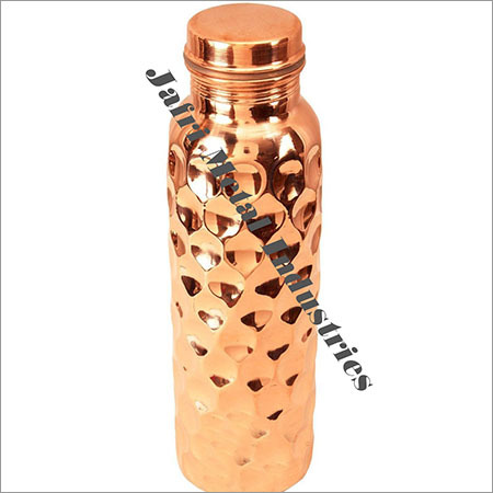 Double Hammered Copper Bottles