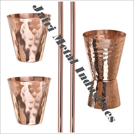 Double Hammered Cocktail Shot Glasses