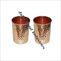 Copper Hammered Glasses