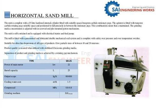 Horizontal Sand Mill