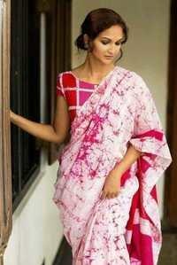 Floral Batik Print Saree