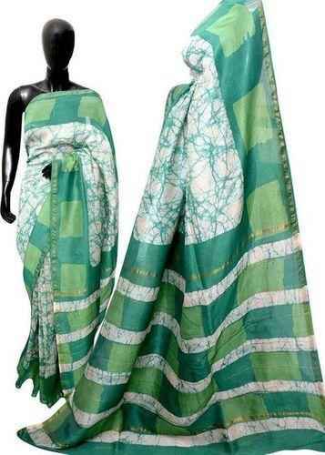 Hand Batik Print Cotton Saree
