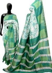 Hand Batik Print Cotton Saree