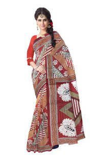 Floral Printed Cotton Sarees