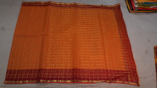 Zari Work Kota Doria Saree
