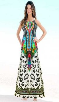 Digital Printed Crepe Beach Kaftan