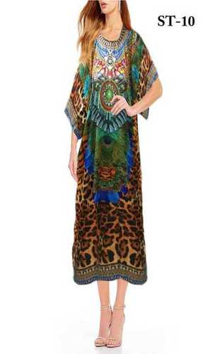 Digital Printed Beach Georgette Kaftan