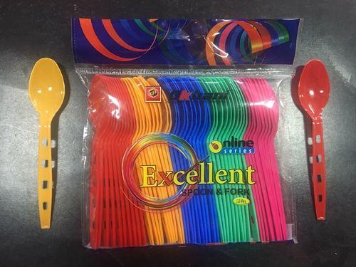 Excellent- Plastic Colour Spoon