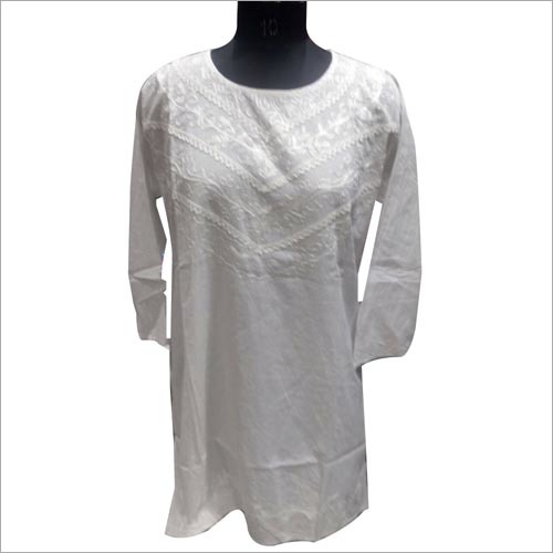White kurti for ladies