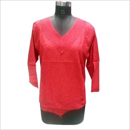 Red kurti for ladies