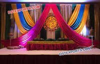 Colourful Backdrop Decoration For Wedding