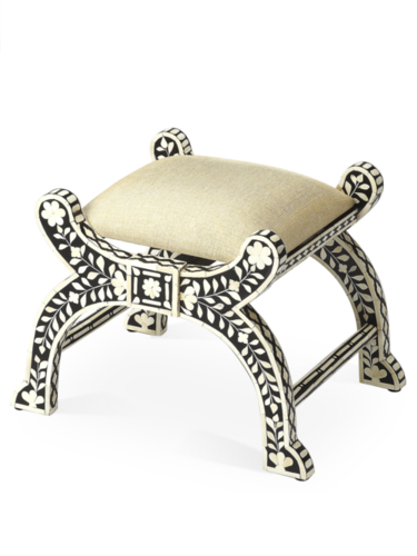 Bone inlay Indian handmade stool