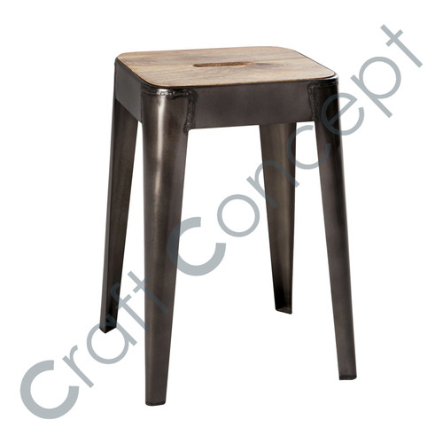 MANGO & METAL STOOL