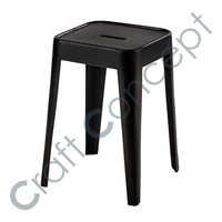 BLACK METAL STOOL