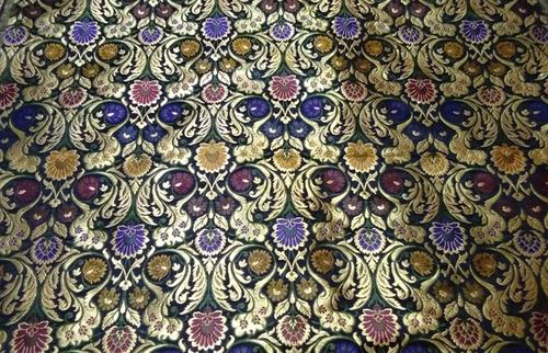 44b36ba4e8c181 Black Handloom Banarasi Kimkhab Pure Silk Fabric Exporter ...